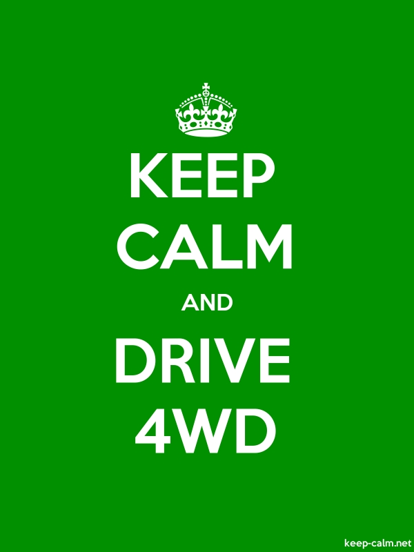 KEEP CALM AND DRIVE 4WD - white/green - Default (600x800)