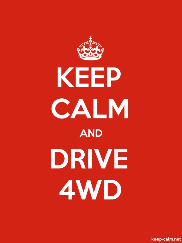 KEEP CALM AND DRIVE 4WD - white/red - Default (600x800)