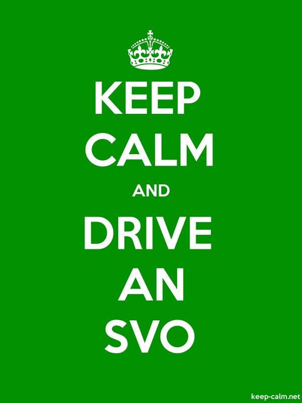 KEEP CALM AND DRIVE AN SVO - white/green - Default (600x800)