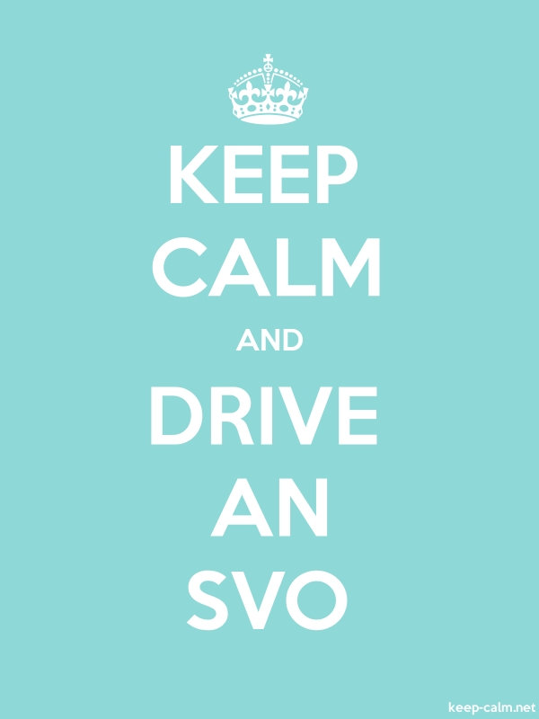 KEEP CALM AND DRIVE AN SVO - white/lightblue - Default (600x800)