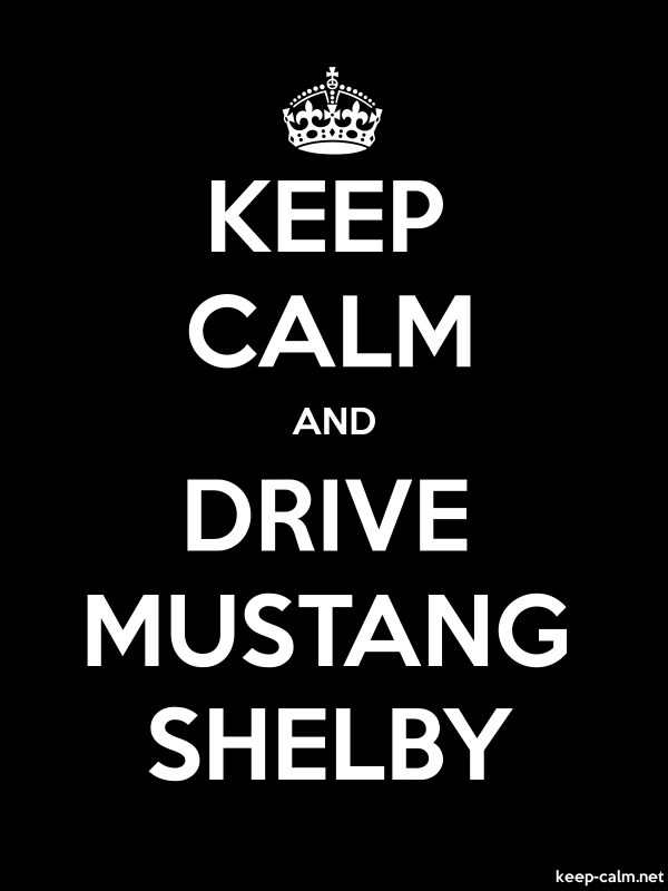 KEEP CALM AND DRIVE MUSTANG SHELBY - white/black - Default (600x800)