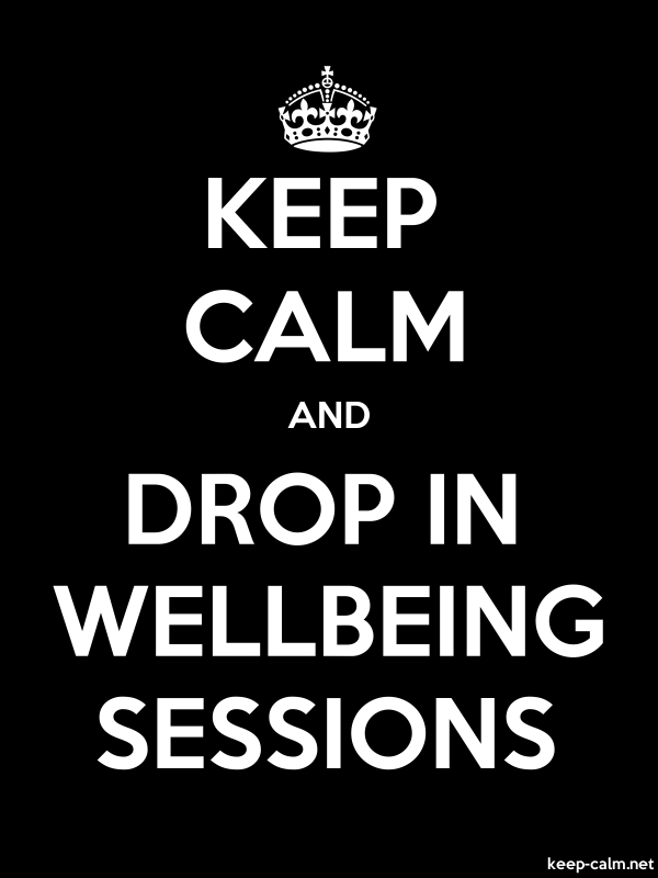 KEEP CALM AND DROP IN WELLBEING SESSIONS - white/black - Default (600x800)