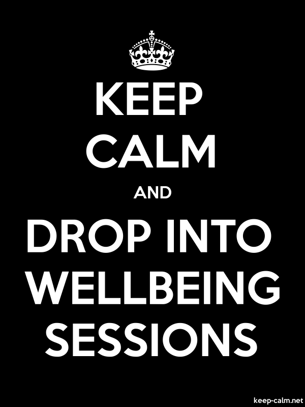 KEEP CALM AND DROP INTO WELLBEING SESSIONS - white/black - Default (600x800)