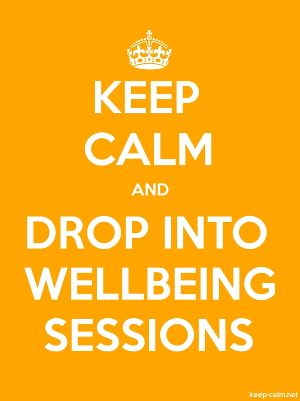 KEEP CALM AND DROP INTO WELLBEING SESSIONS - white/orange - Default (600x800)