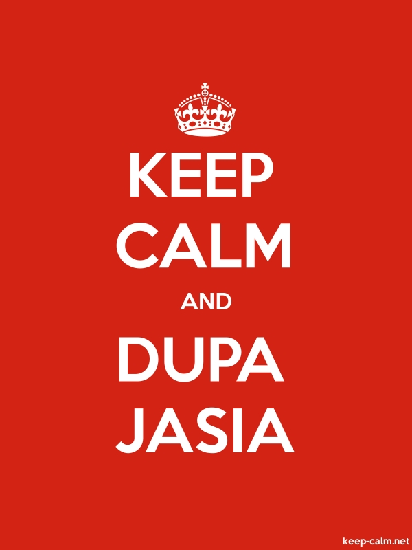 KEEP CALM AND DUPA JASIA - white/red - Default (600x800)
