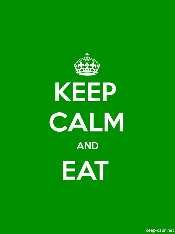 KEEP CALM AND EAT - white/green - Default (600x800)