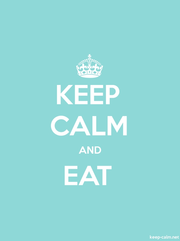 KEEP CALM AND EAT - white/lightblue - Default (600x800)