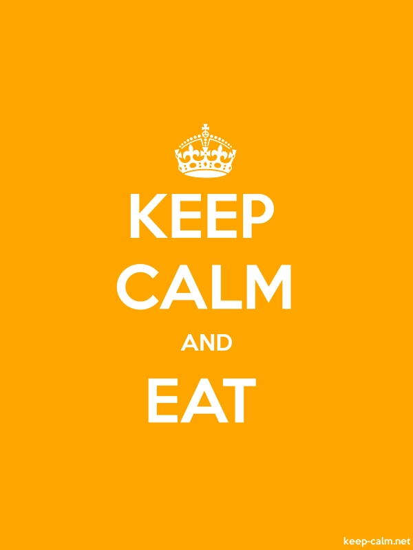 KEEP CALM AND EAT - white/orange - Default (600x800)