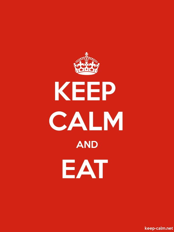 KEEP CALM AND EAT - white/red - Default (600x800)