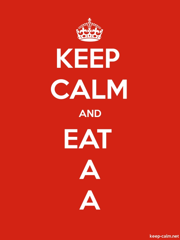 KEEP CALM AND EAT A A - white/red - Default (600x800)