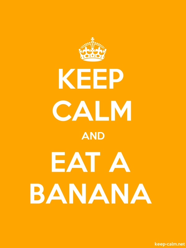 KEEP CALM AND EAT A BANANA - white/orange - Default (600x800)