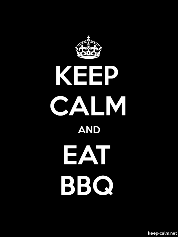 KEEP CALM AND EAT BBQ - white/black - Default (600x800)