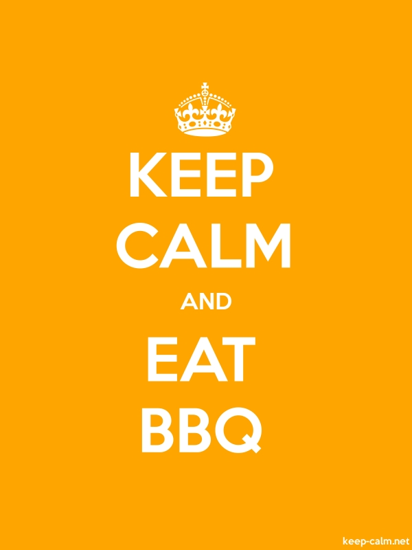 KEEP CALM AND EAT BBQ - white/orange - Default (600x800)