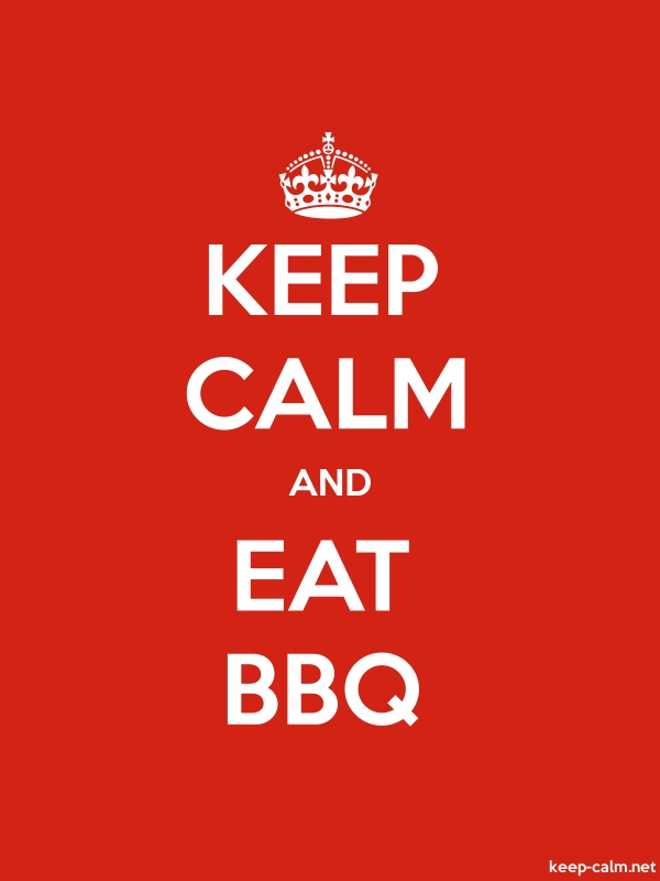 KEEP CALM AND EAT BBQ - white/red - Default (600x800)