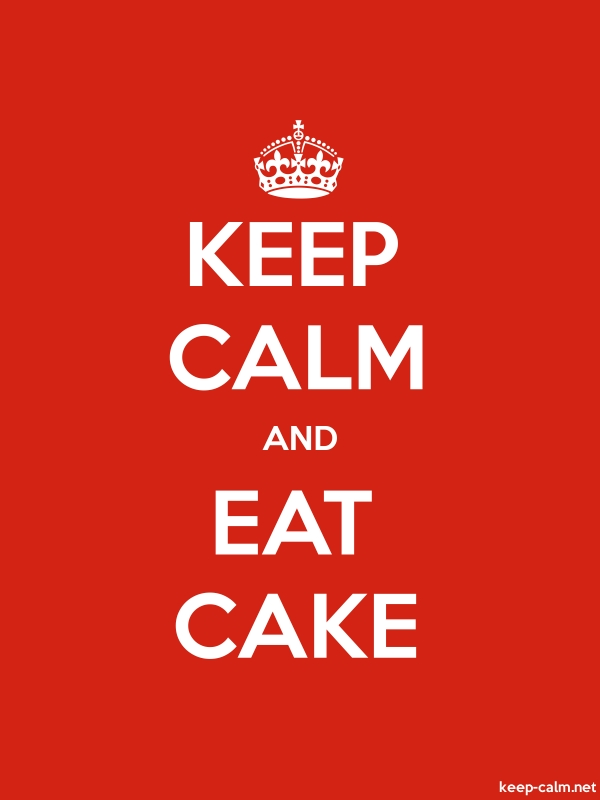 KEEP CALM AND EAT CAKE - white/red - Default (600x800)