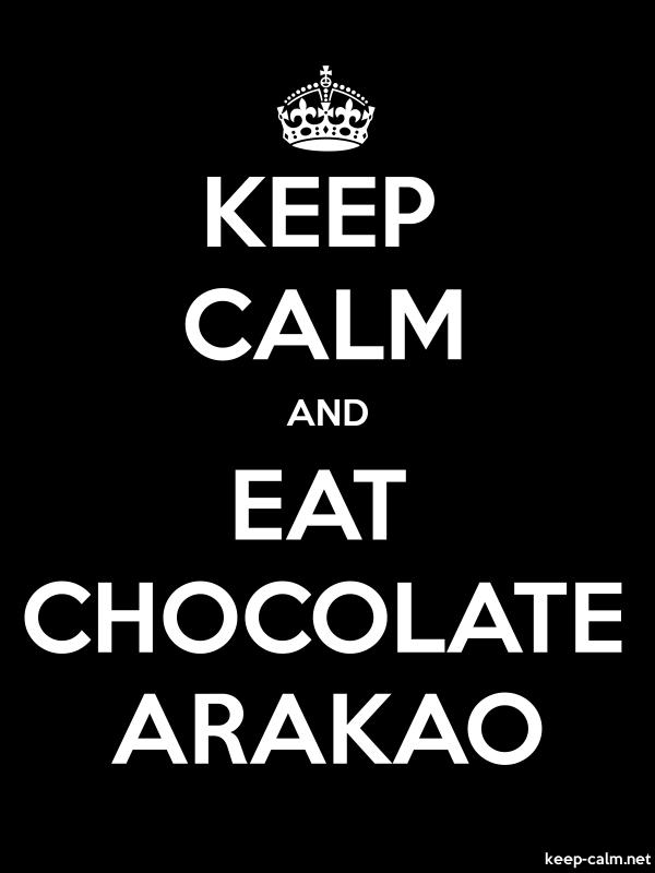KEEP CALM AND EAT CHOCOLATE ARAKAO - white/black - Default (600x800)