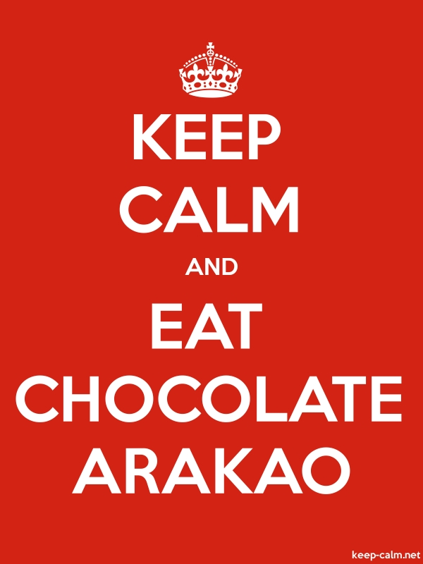 KEEP CALM AND EAT CHOCOLATE ARAKAO - white/red - Default (600x800)