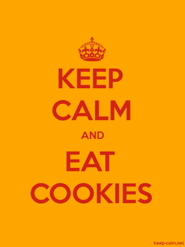 KEEP CALM AND EAT COOKIES - red/orange - Default (600x800)