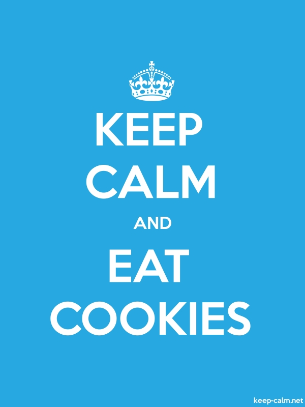 KEEP CALM AND EAT COOKIES - white/blue - Default (600x800)