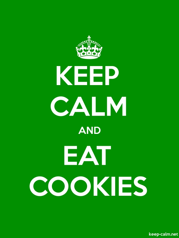 KEEP CALM AND EAT COOKIES - white/green - Default (600x800)
