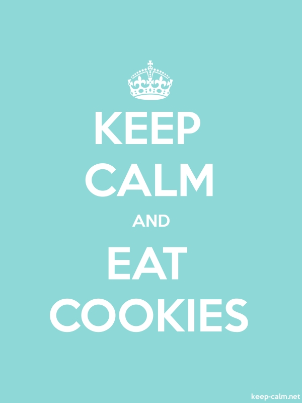 KEEP CALM AND EAT COOKIES - white/lightblue - Default (600x800)