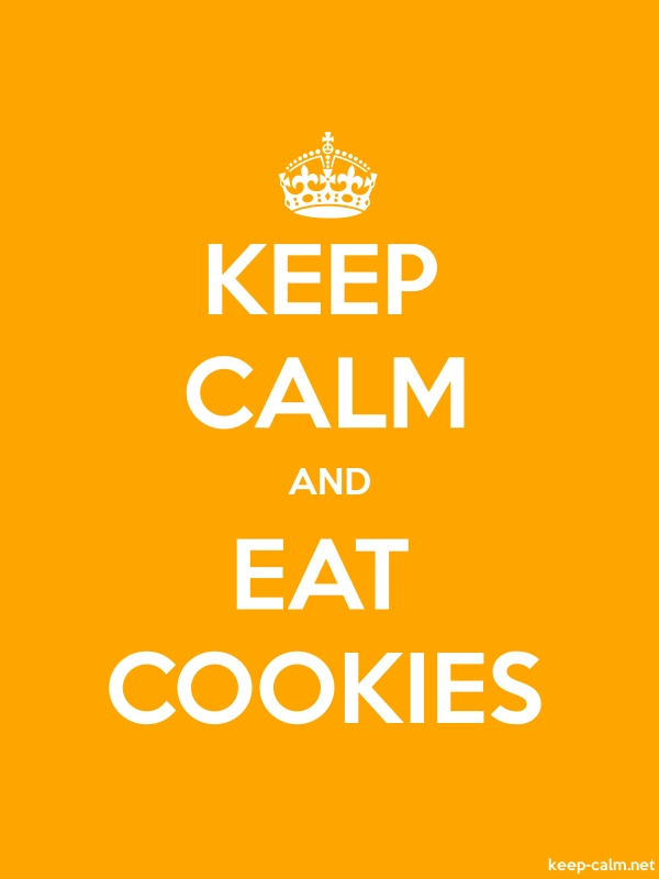 KEEP CALM AND EAT COOKIES - white/orange - Default (600x800)