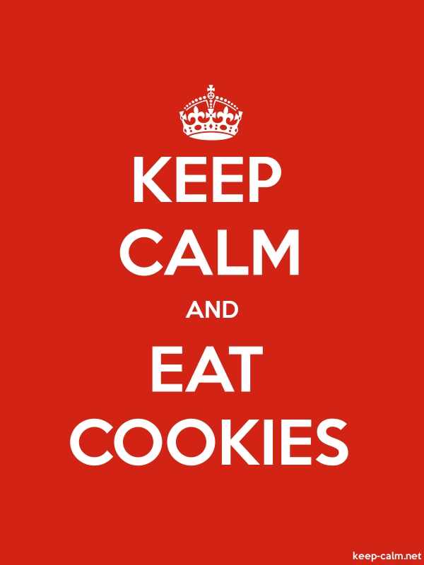 KEEP CALM AND EAT COOKIES - white/red - Default (600x800)