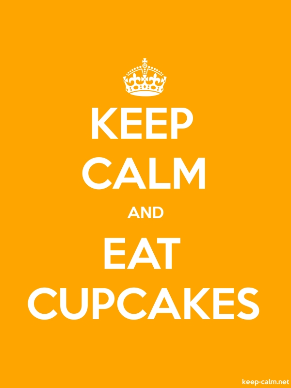 KEEP CALM AND EAT CUPCAKES - white/orange - Default (600x800)