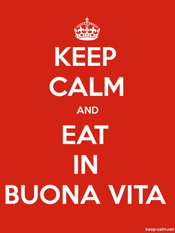 KEEP CALM AND EAT IN BUONA VITA - white/red - Default (600x800)