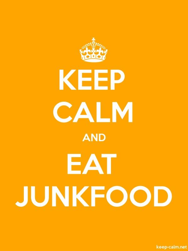 KEEP CALM AND EAT JUNKFOOD - white/orange - Default (600x800)