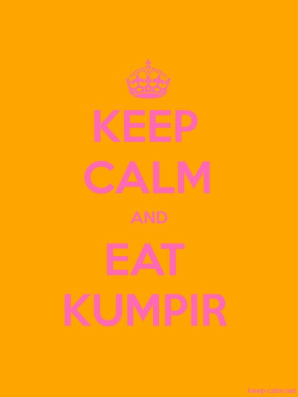 KEEP CALM AND EAT KUMPIR - pink/orange - Default (600x800)