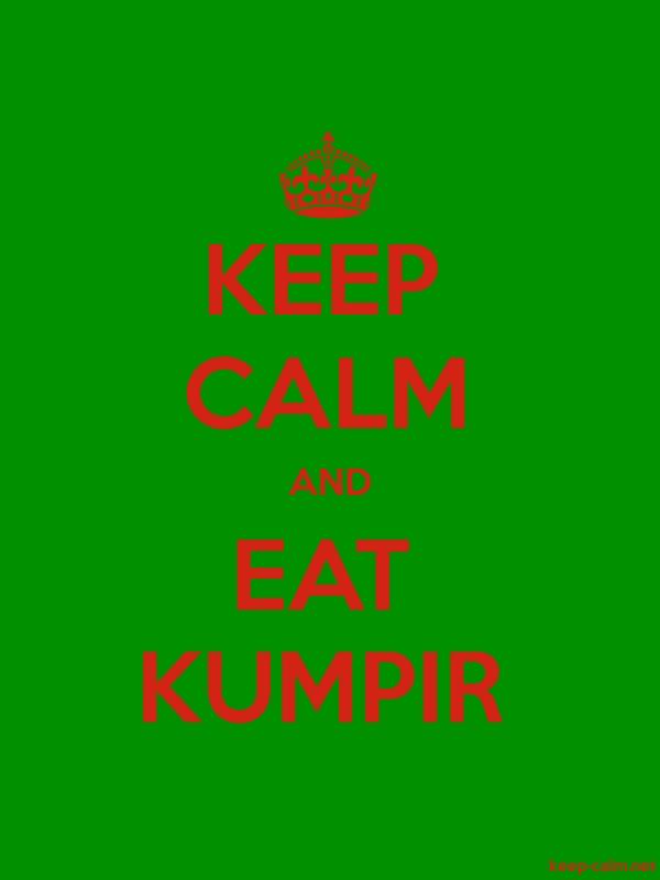 KEEP CALM AND EAT KUMPIR - red/green - Default (600x800)