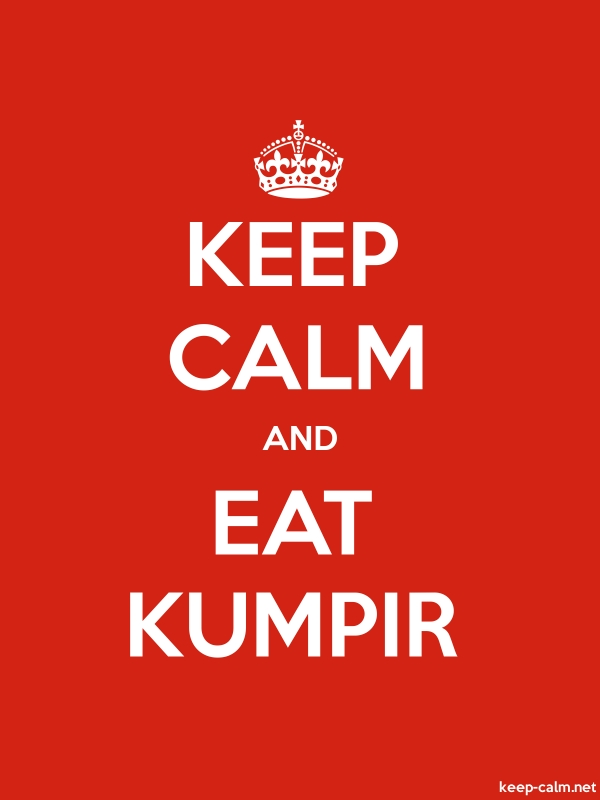 KEEP CALM AND EAT KUMPIR - white/red - Default (600x800)