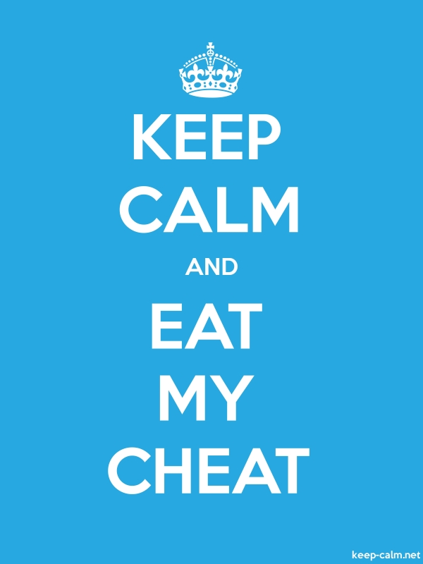 KEEP CALM AND EAT MY CHEAT - white/blue - Default (600x800)