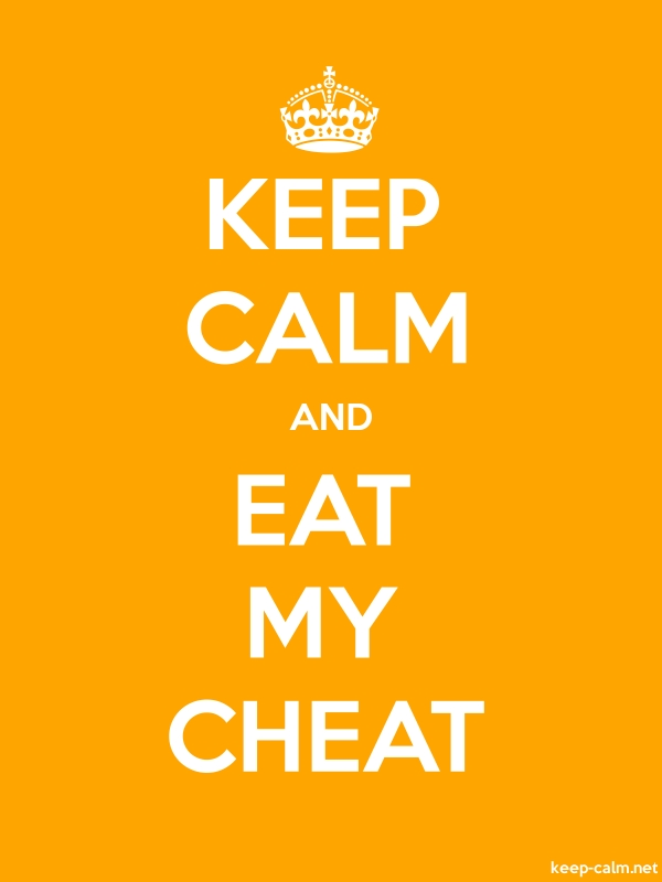 KEEP CALM AND EAT MY CHEAT - white/orange - Default (600x800)