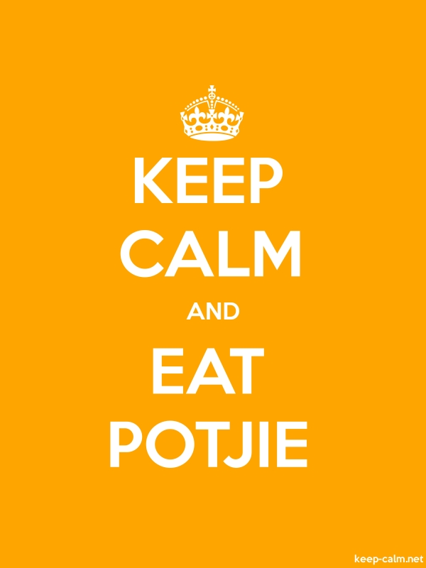 KEEP CALM AND EAT POTJIE - white/orange - Default (600x800)