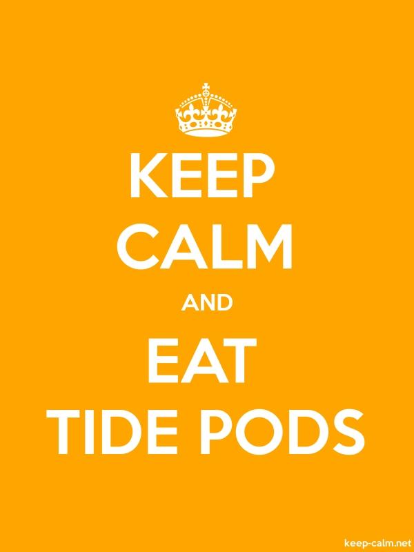 KEEP CALM AND EAT TIDE PODS - white/orange - Default (600x800)