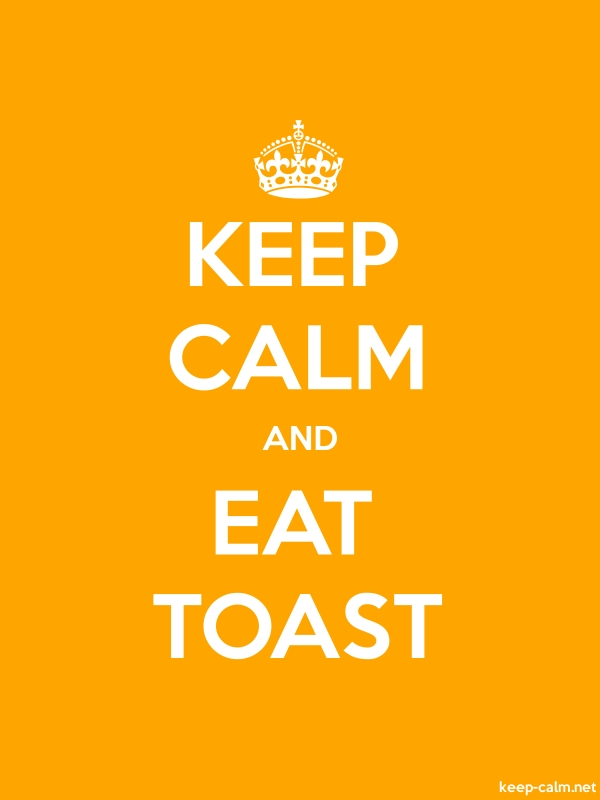 KEEP CALM AND EAT TOAST - white/orange - Default (600x800)