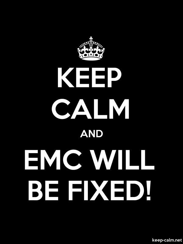 KEEP CALM AND EMC WILL BE FIXED! - white/black - Default (600x800)