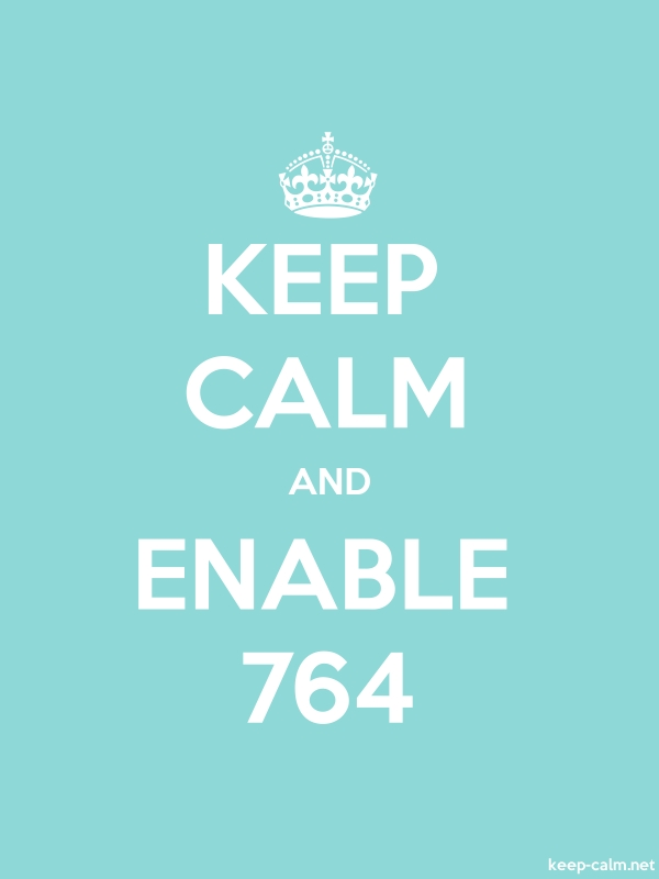 KEEP CALM AND ENABLE 764 - white/lightblue - Default (600x800)