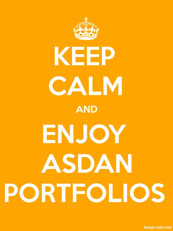 KEEP CALM AND ENJOY ASDAN PORTFOLIOS - white/orange - Default (600x800)