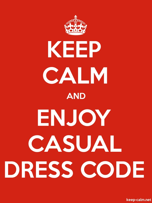 KEEP CALM AND ENJOY CASUAL DRESS CODE - white/red - Default (600x800)