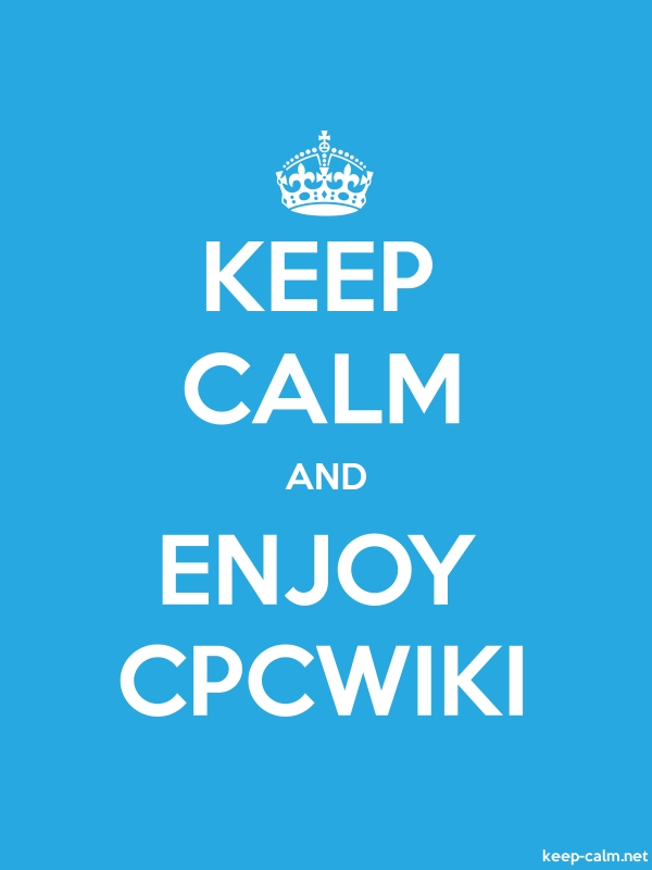 KEEP CALM AND ENJOY CPCWIKI - white/blue - Default (600x800)