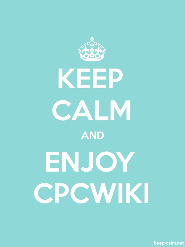 KEEP CALM AND ENJOY CPCWIKI - white/lightblue - Default (600x800)