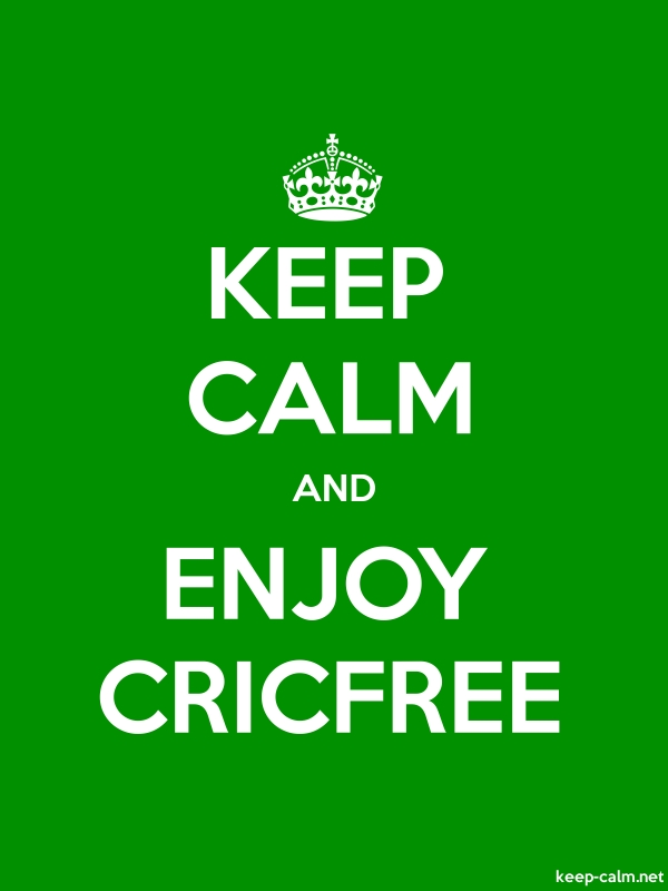 KEEP CALM AND ENJOY CRICFREE - white/green - Default (600x800)