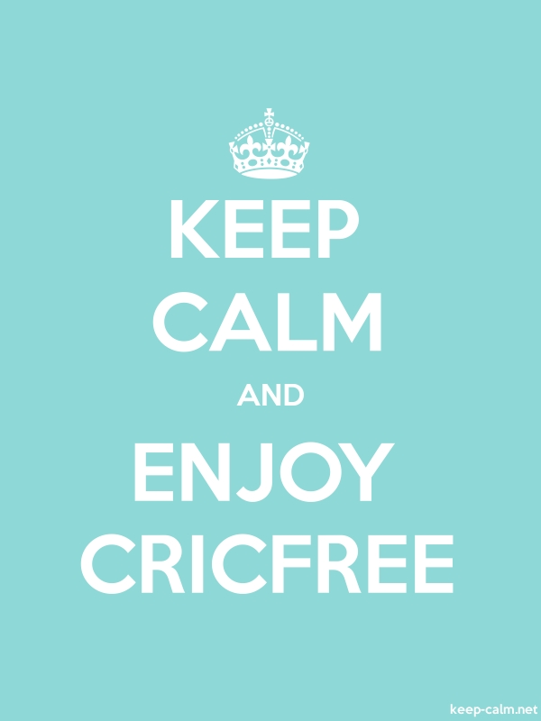 KEEP CALM AND ENJOY CRICFREE - white/lightblue - Default (600x800)