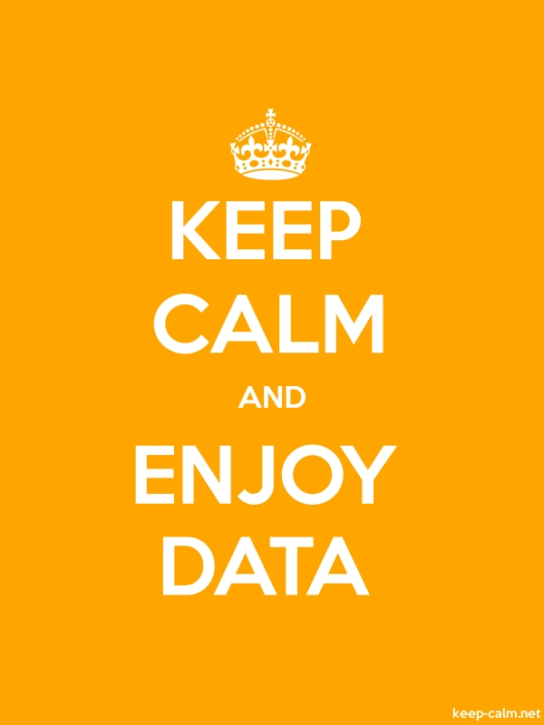 KEEP CALM AND ENJOY DATA - white/orange - Default (600x800)