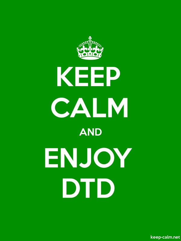 KEEP CALM AND ENJOY DTD - white/green - Default (600x800)