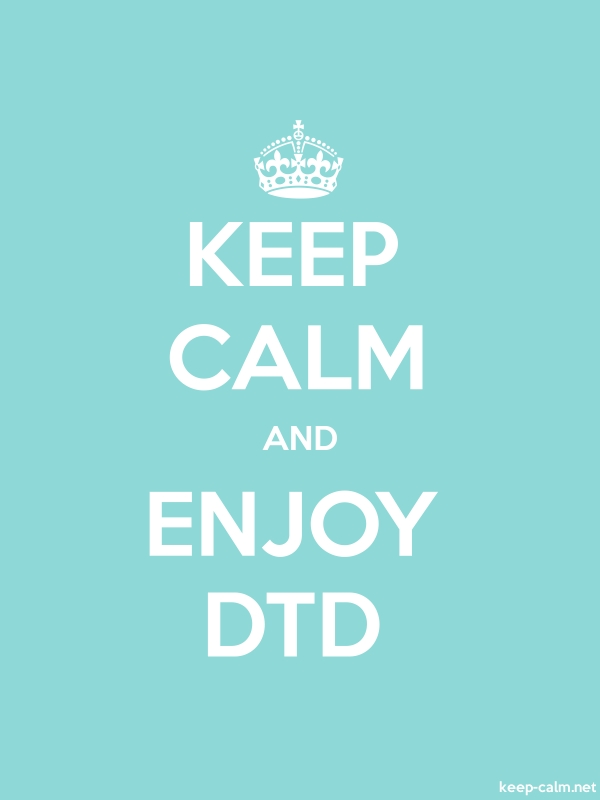 KEEP CALM AND ENJOY DTD - white/lightblue - Default (600x800)