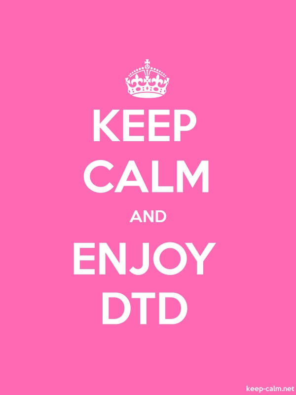 KEEP CALM AND ENJOY DTD - white/pink - Default (600x800)